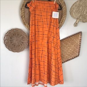 Lularoe Orange Maxi skirt NWT 3x
